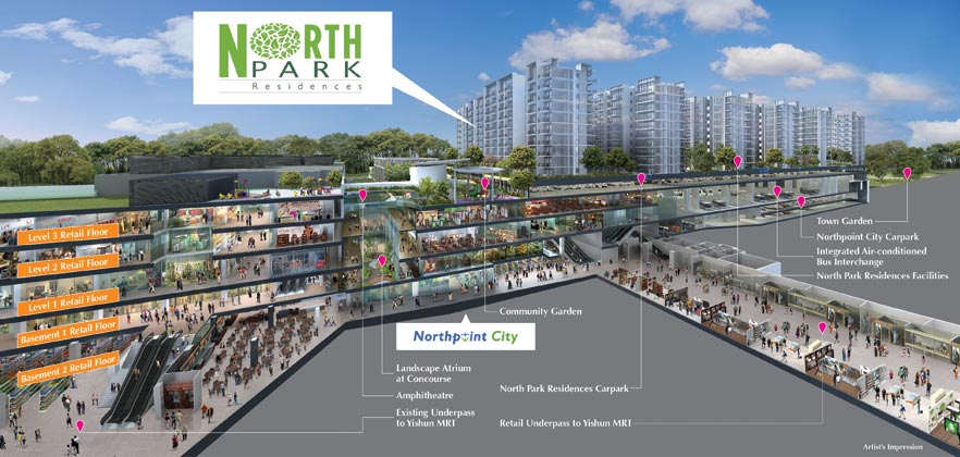 North Point City 2km from Signature EC at Yishun