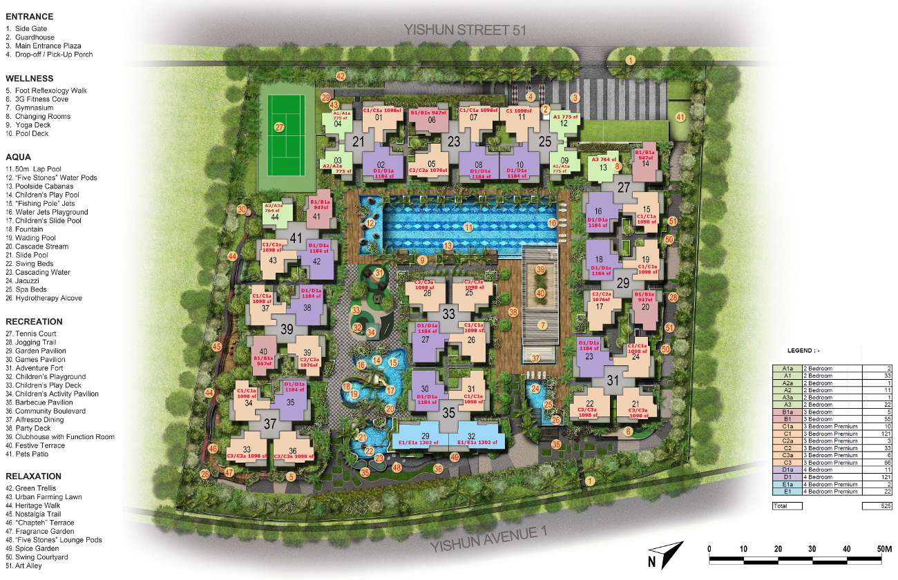 Signature Site Plan | Official Signature EC Site Plan
