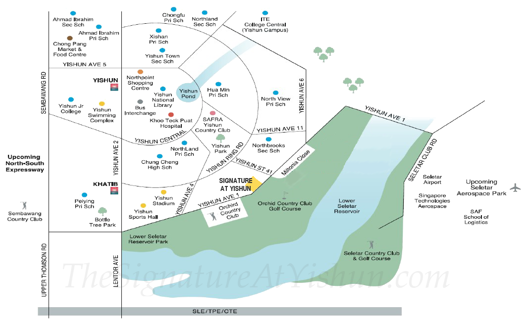 Signature at Yishun :: Amenities Map